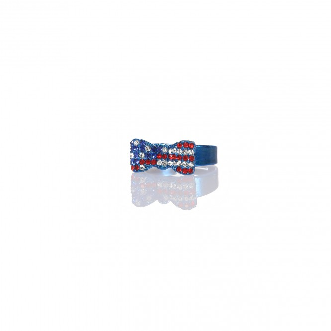 Bague Noeud & Strass USA