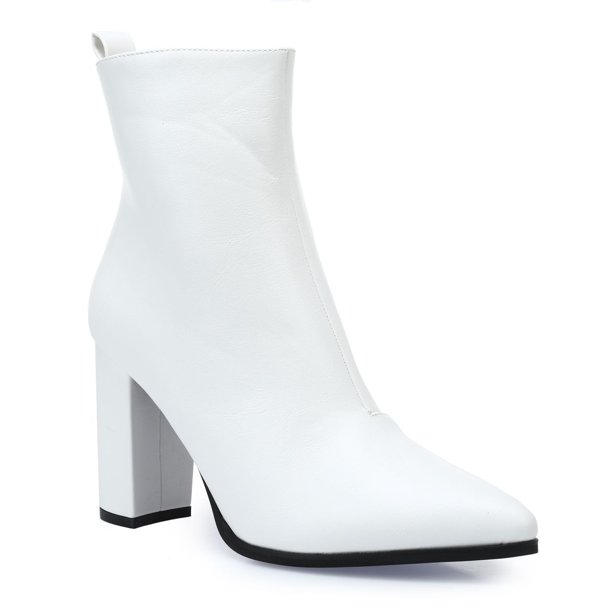 Bottines blanches en similicuir