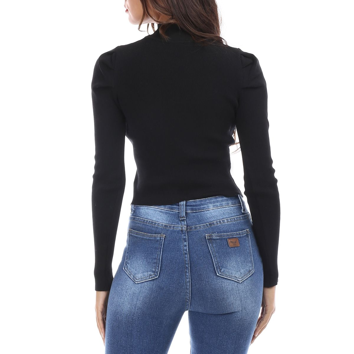 Pull cropped noir