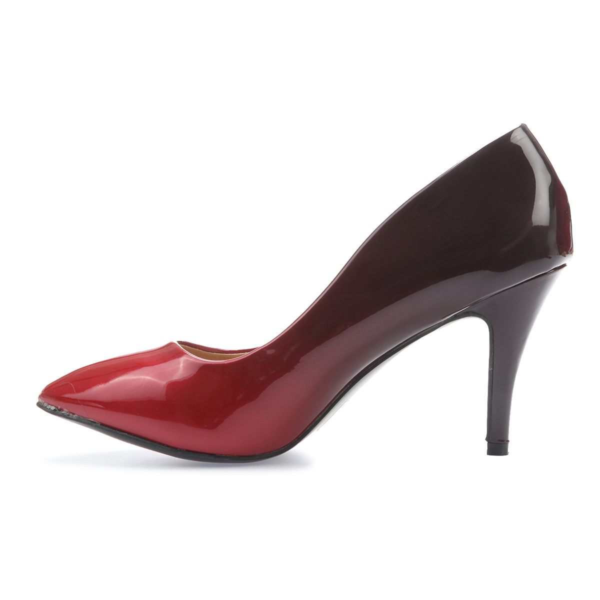 Stilettos vernis dégradés rouges