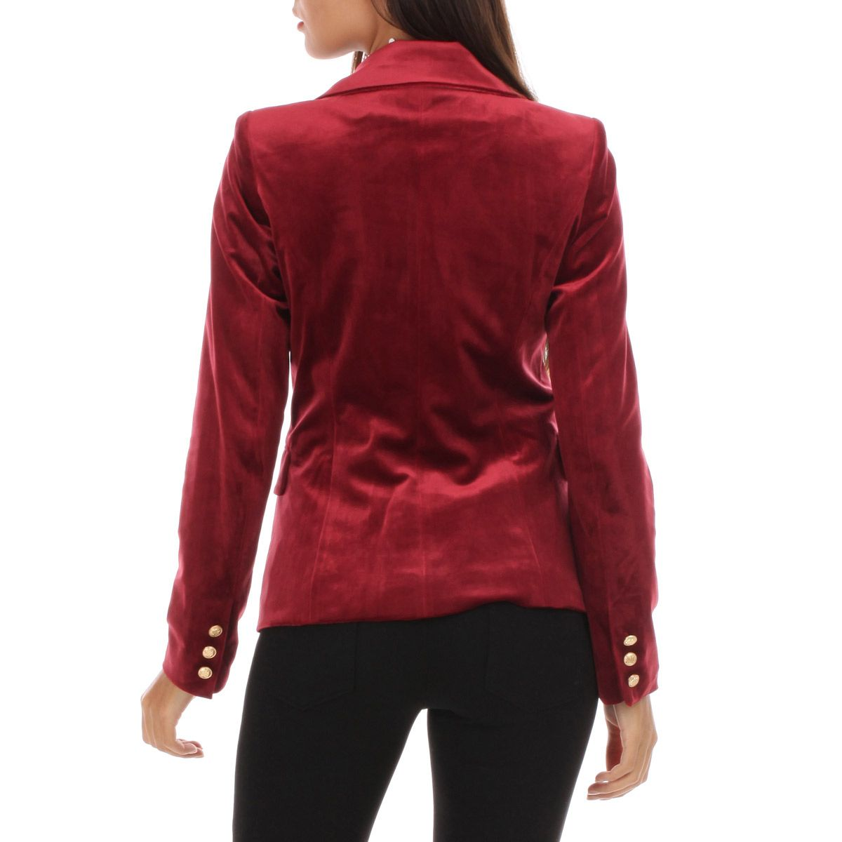 Veste en velours bordeaux style officier