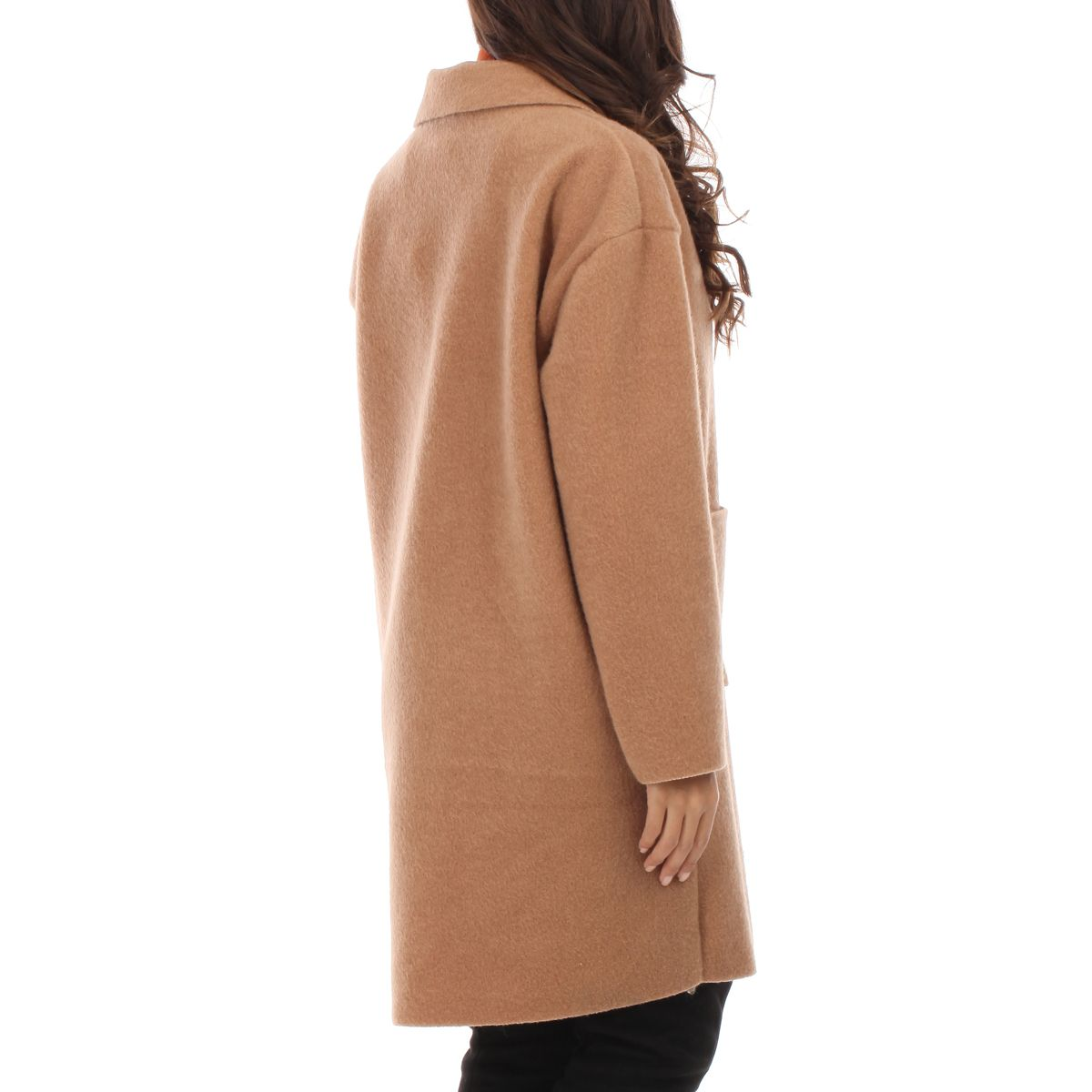 Manteau mi-long camel