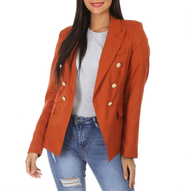Veste marron style blazer officier