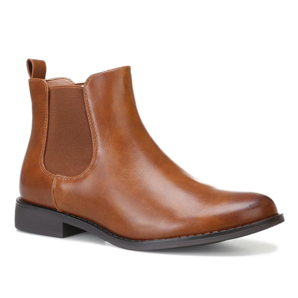 bottines chelsea camel cuir