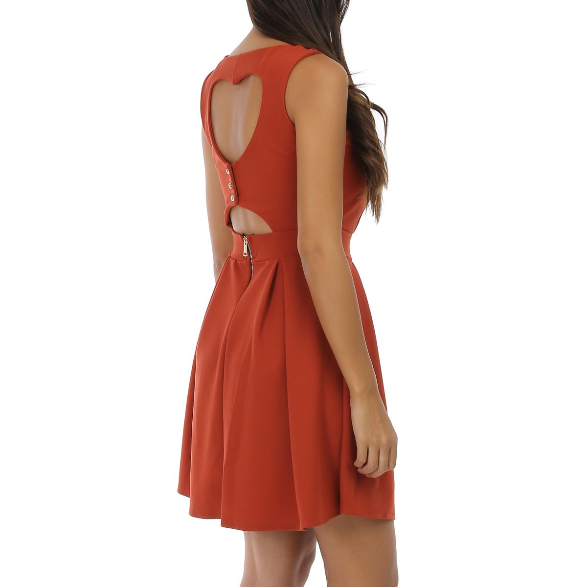 Robe coeur patineuse rouille