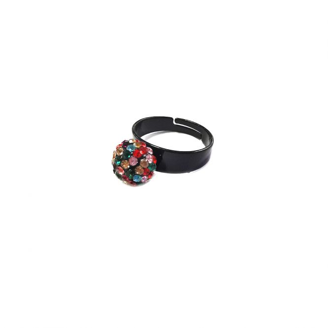 Bague strass mpulticolore