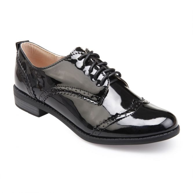 Derbies vernis noir