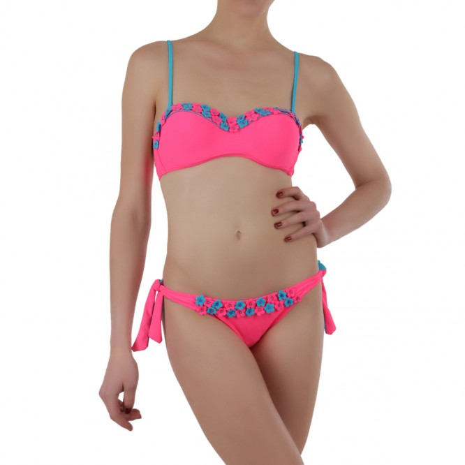 Maillot de bain flower rose