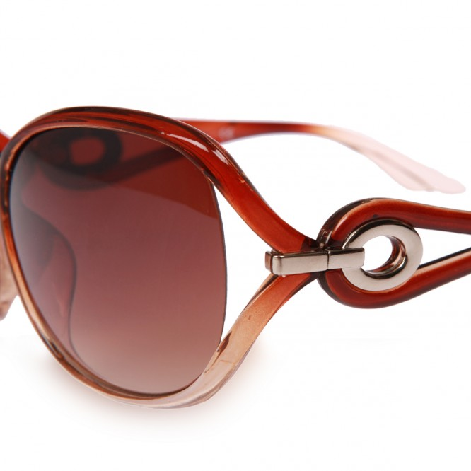 Lunettes Ovale tye and die Marron