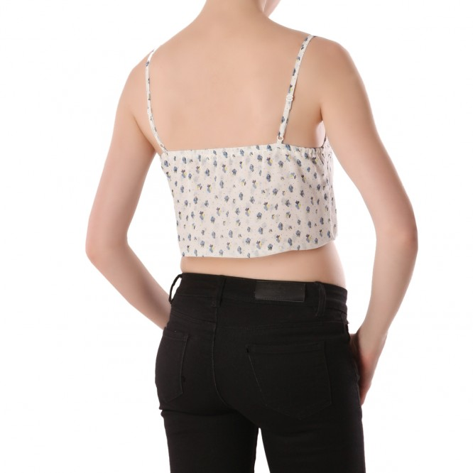 Top Crop liberty blanc
