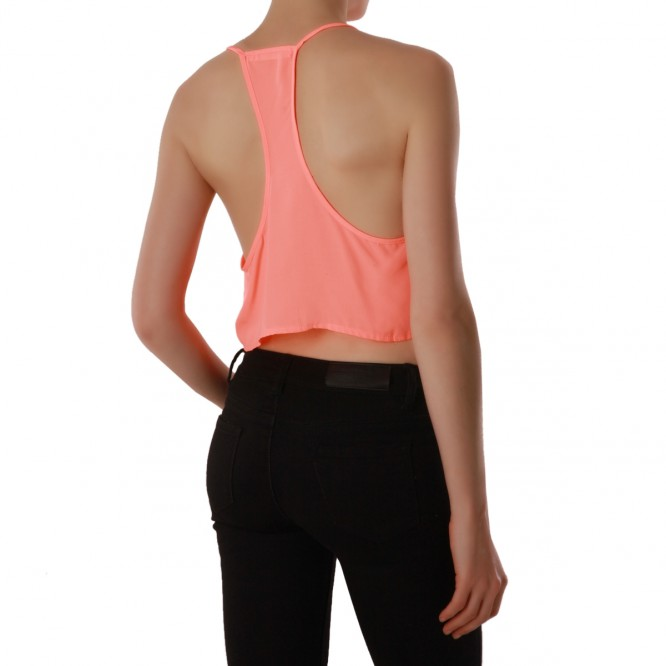 Top Crop uni corail