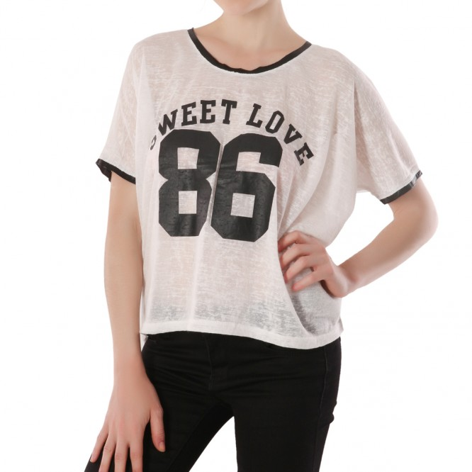 T-shirt Sweet Love blanc