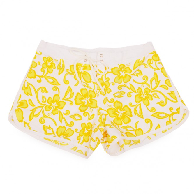 Short de plage hawaii jaune