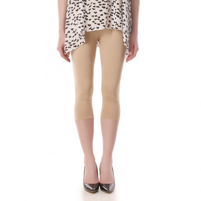 Legging uni court beige