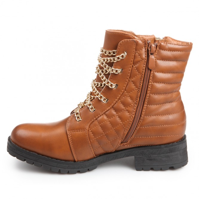 chaussures bottines lacet chaine pas cher brooklyn camel. Black Bedroom Furniture Sets. Home Design Ideas