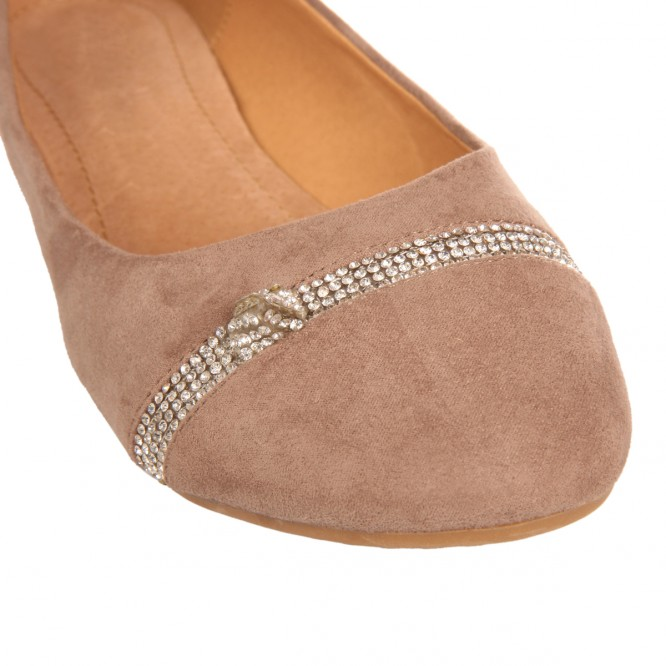Ballerine grande taille confort Denise taupe