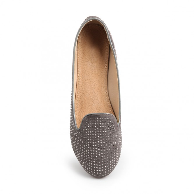 Mocassin grande taille Tyra gris