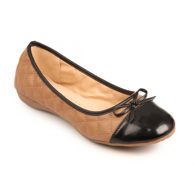 Ballerine grande taille Maguy taupe