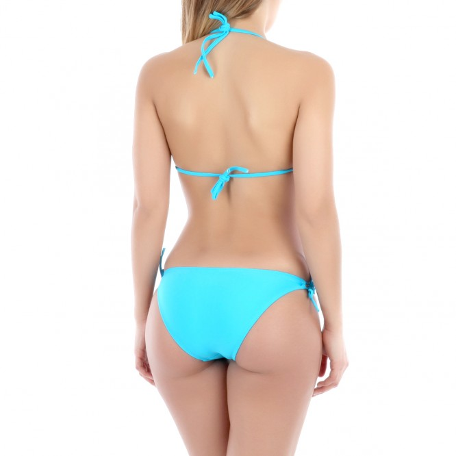 Ensemble bikini franges bleu