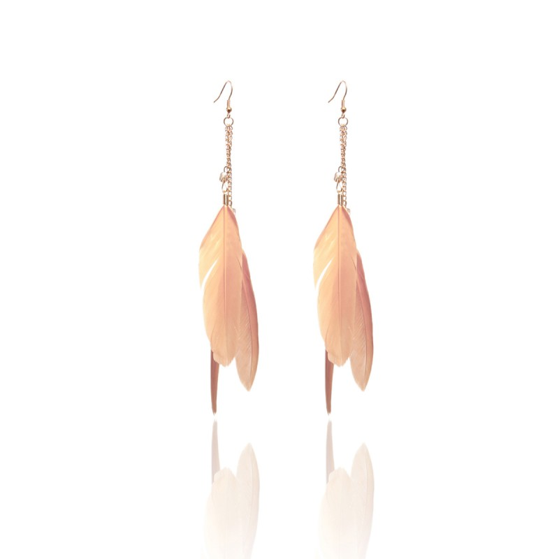 Boucles plumes taupe