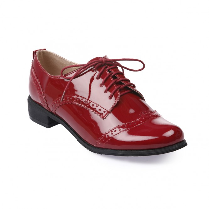 Derbies vernis rouge