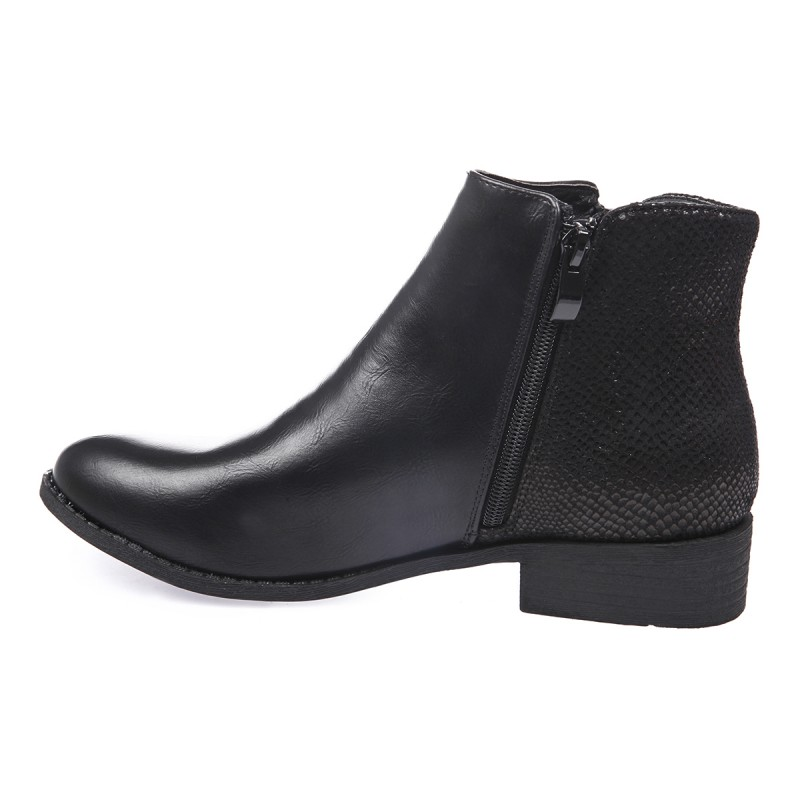 Bottines à zip casual noir