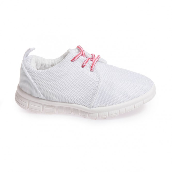 Baskets enfant type Running blanc