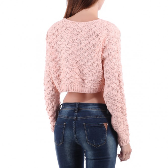 Pull crop top ample rose