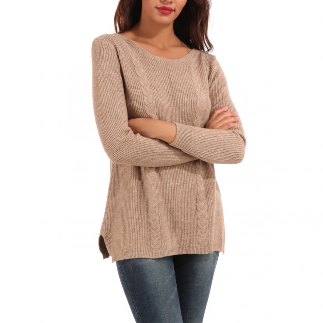 Pull double torsade camel pas cher la modeuse for Pull camel femme