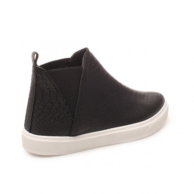 Slip-on montantes motif croco noir