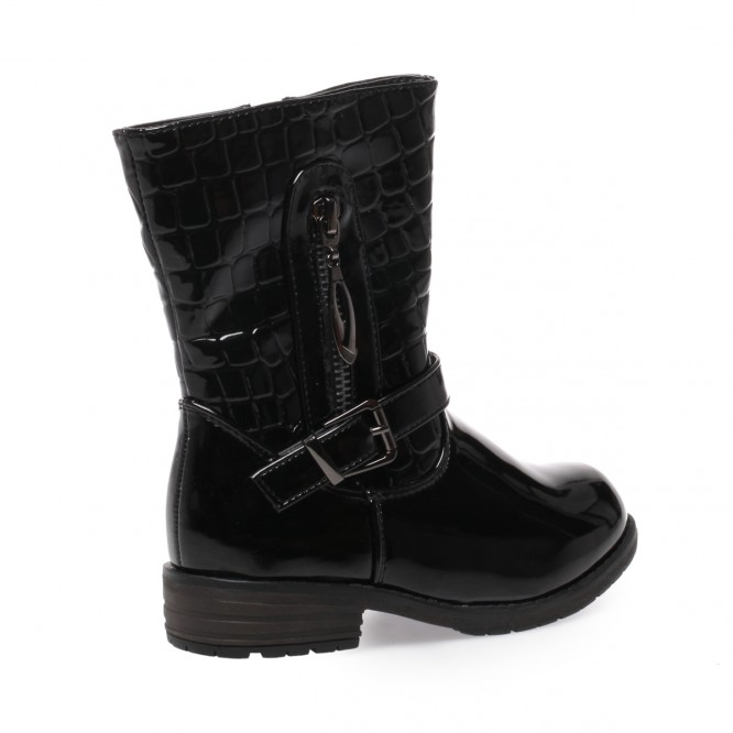 Bottines enfant vernis noir