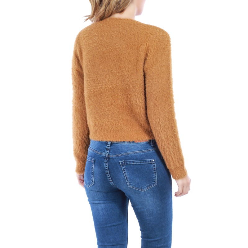 Pull court maille douce camel femme pas cher la modeuse for Pull camel femme